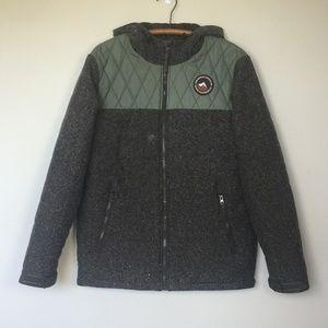VANS Primaloft Bridger Quilted Jacket Olive Gray M